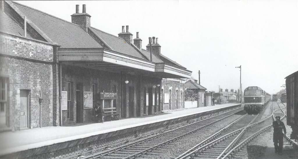 Brandon Station pictured in the 1960s with its canopy still in tact (D Norton)