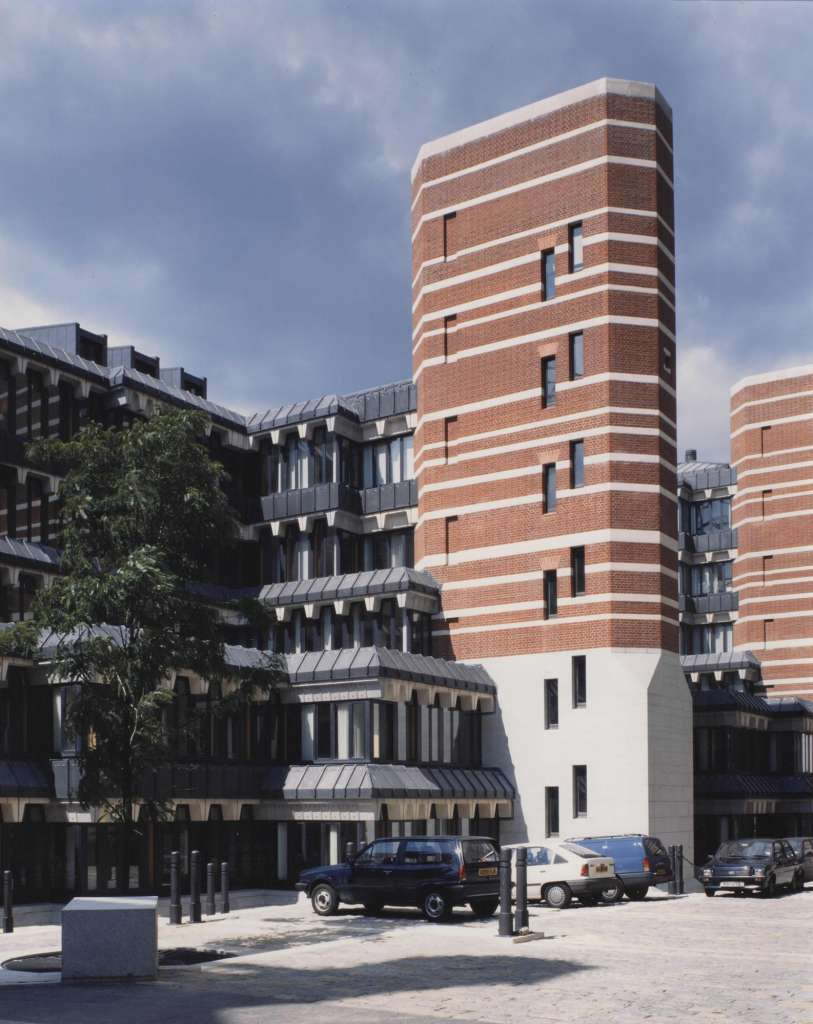 The cascading rear facade and iconic brick towers of Richmond House (Credit: Country Life)