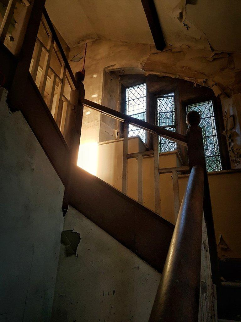 An original crow stepped stairwell