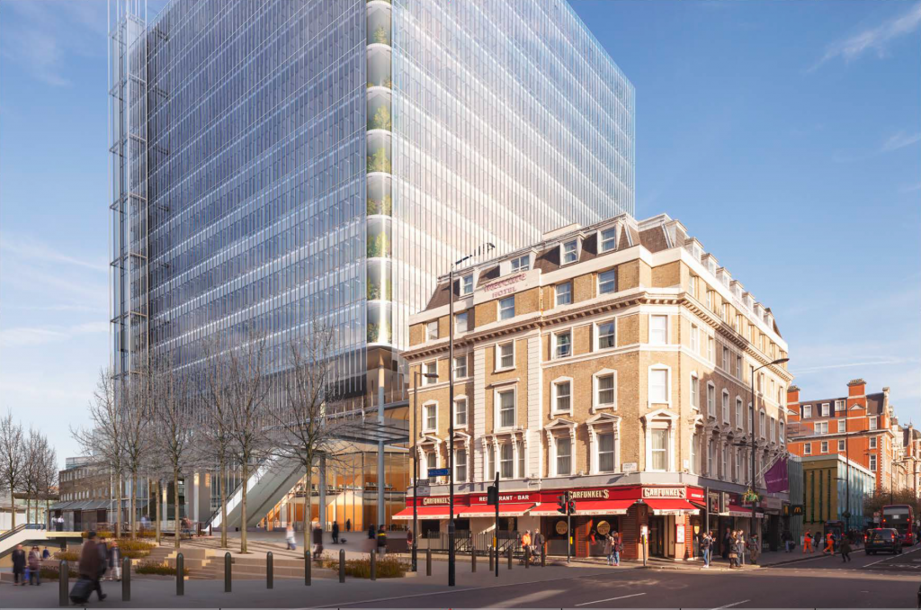 The proposed Paddington Cube, which would entirely demolish the sorting office
