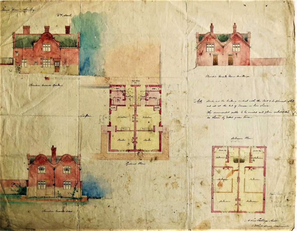 One of seventeen original drawings from 1898 by Home Farm's architect Arthur Castings (RIBA)