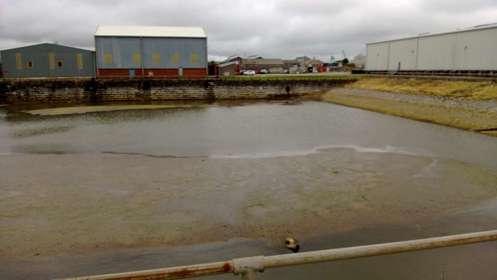 The Grade II listed Timber Pond set to be infilled for a 5-storey building (Adrian James)