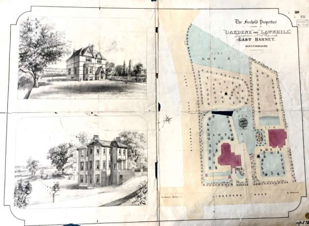 Early drawings of the property and grounds in the 19th century