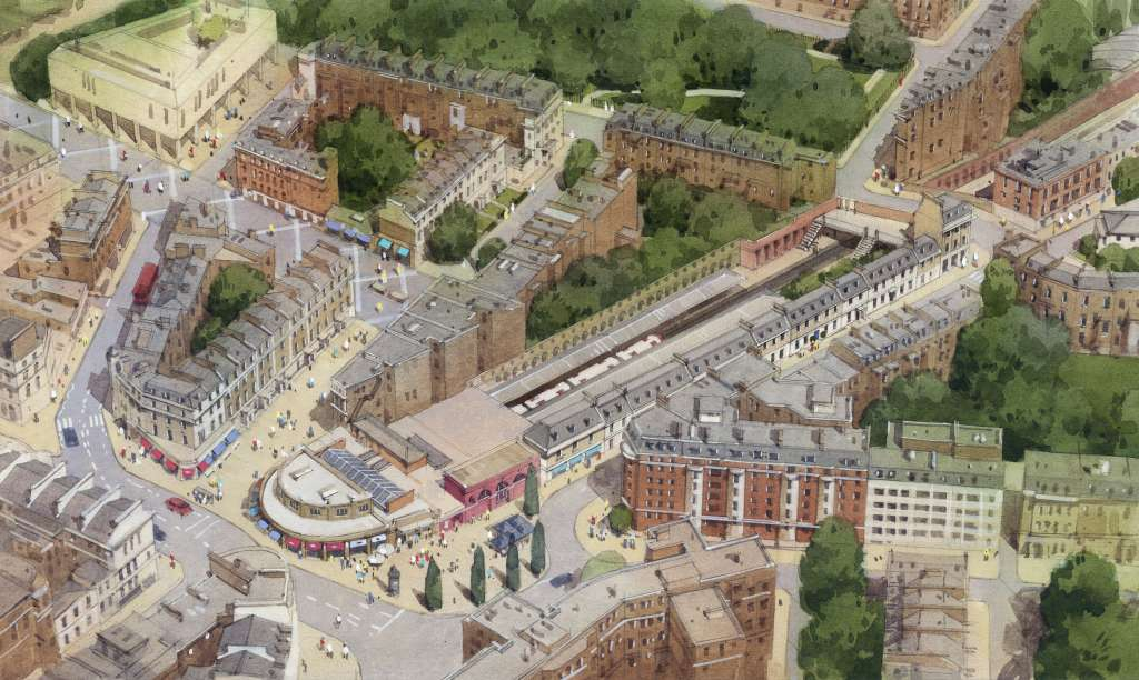 An impression of how a scheme based on TfL's 2016 Brief could look (C Draper)