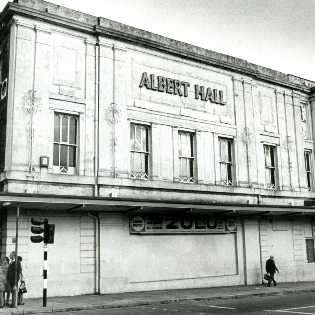The Albert Hall in the late 1960s with its original lettering (Mark Albert)