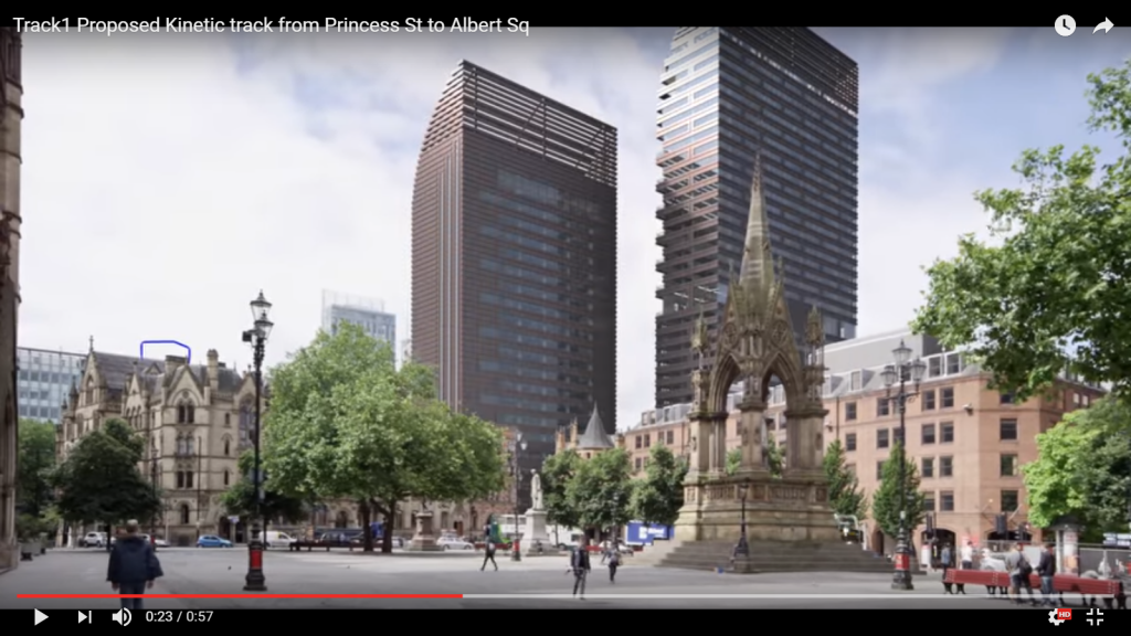 The proposed view from Albert Square