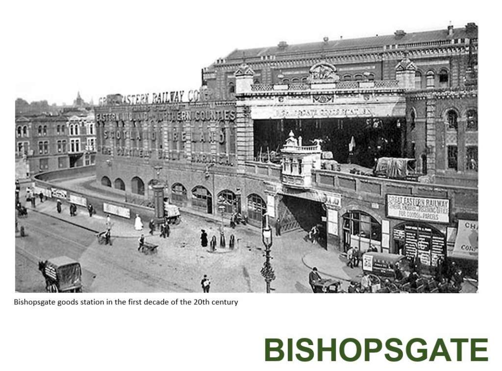 Bishopsgate goods station in the first decade of the 20th Century