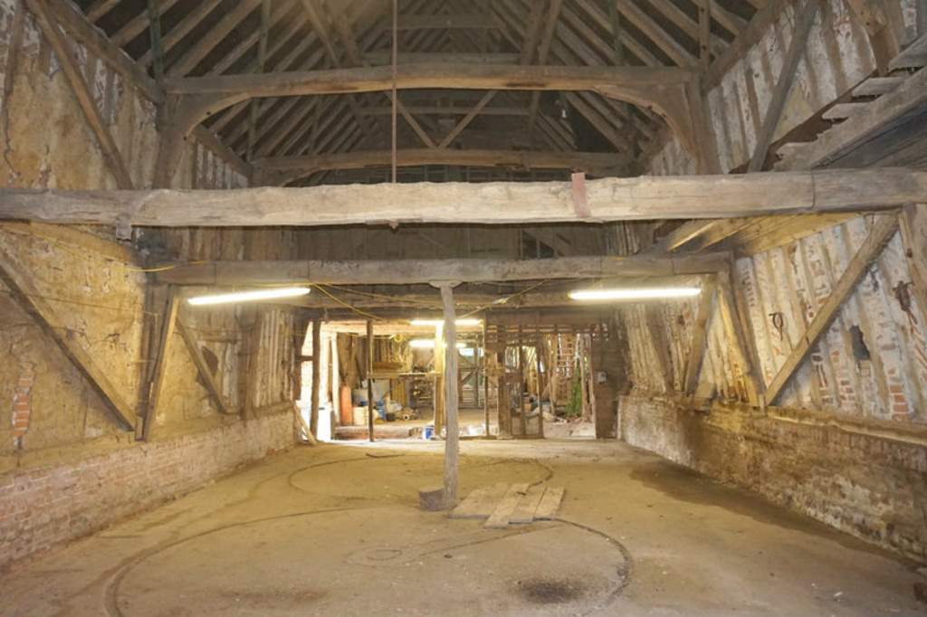 Bentley Hall Barn, interior.  Picture Credit: Grier and Partners