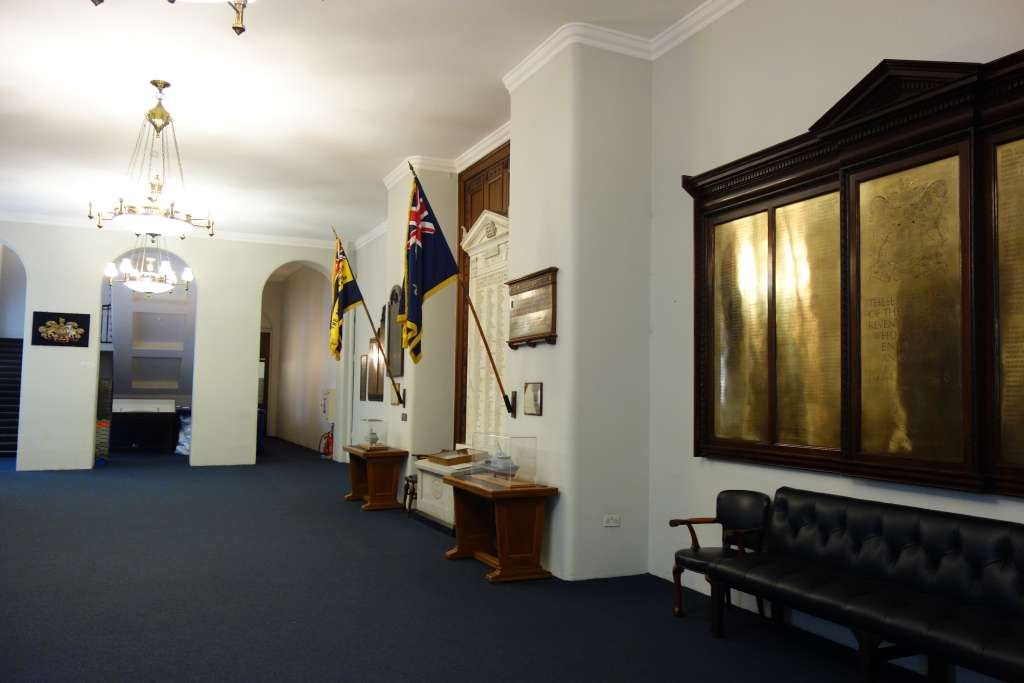 Some of the War Memorials in the basement of Custom House (Credit: M Binney)