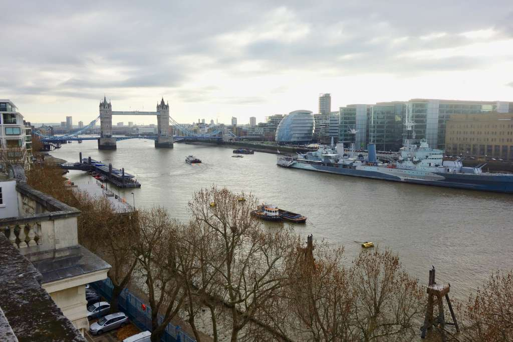 Magnificent rooftop view from Custom House towards Tower Bridge (Credit: M Binney)