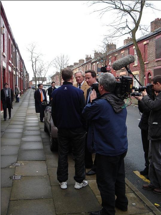 David Cameron at the Welsh Streets in 2006