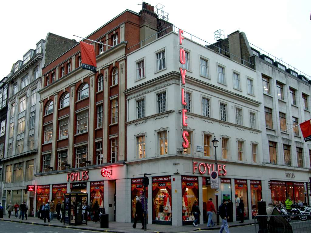 The site in 2008. Foyles has since moved further down Charing Cross Road. Ewan Munro, Flickr