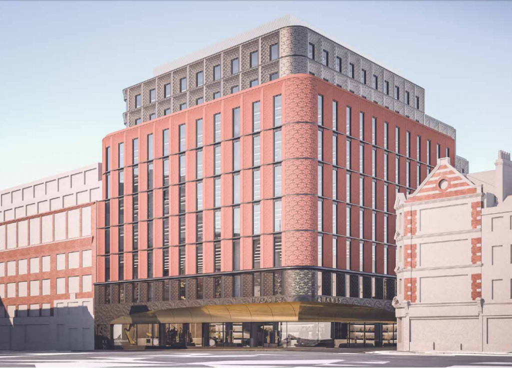 The proposal for a nine storey office building