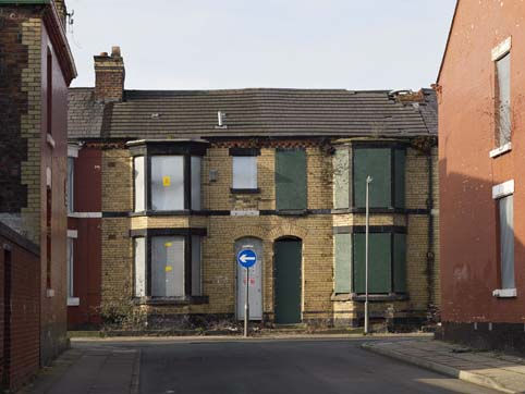 Ghost streets in Picton, Liverpool, emptied using Pathfinder funds (April 2012)
