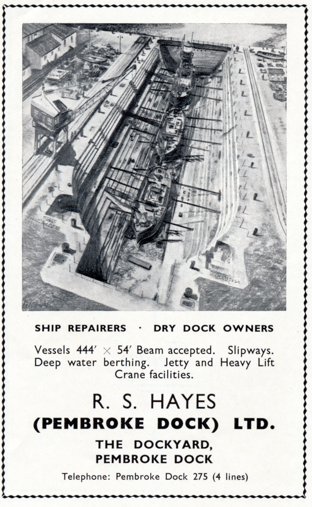 Original advert showing the Graving Dock in action (National Archives)