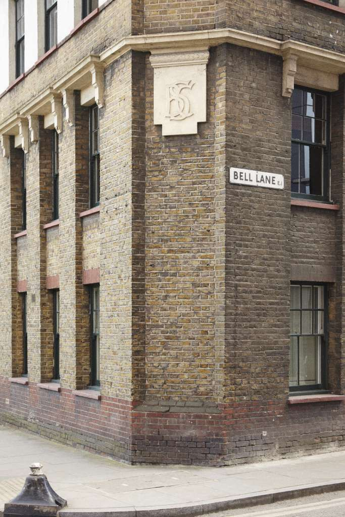 Detail of 66-68 Bell Lane. Photo: Toby Glanville