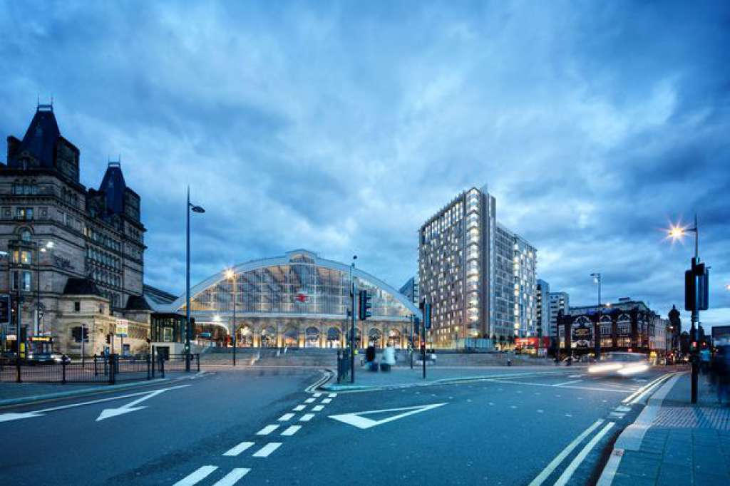 The Skelhorne Street proposals showing 22-storey tower next to Liverpool Lime Street Station