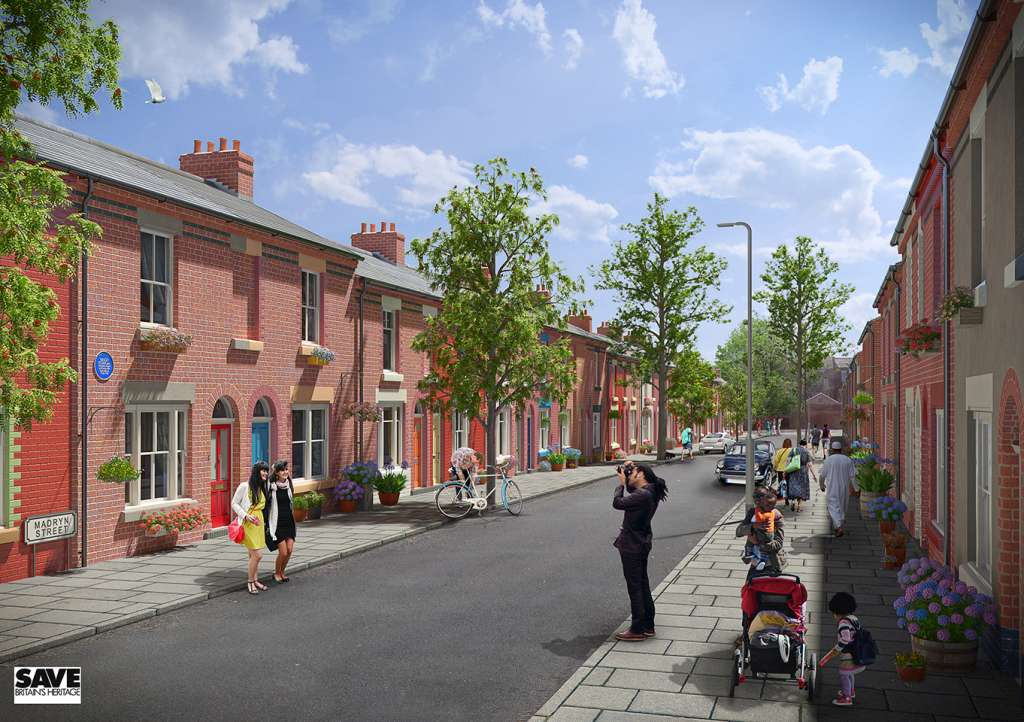 SAVE's CGI of how a restored Madryn Street could look