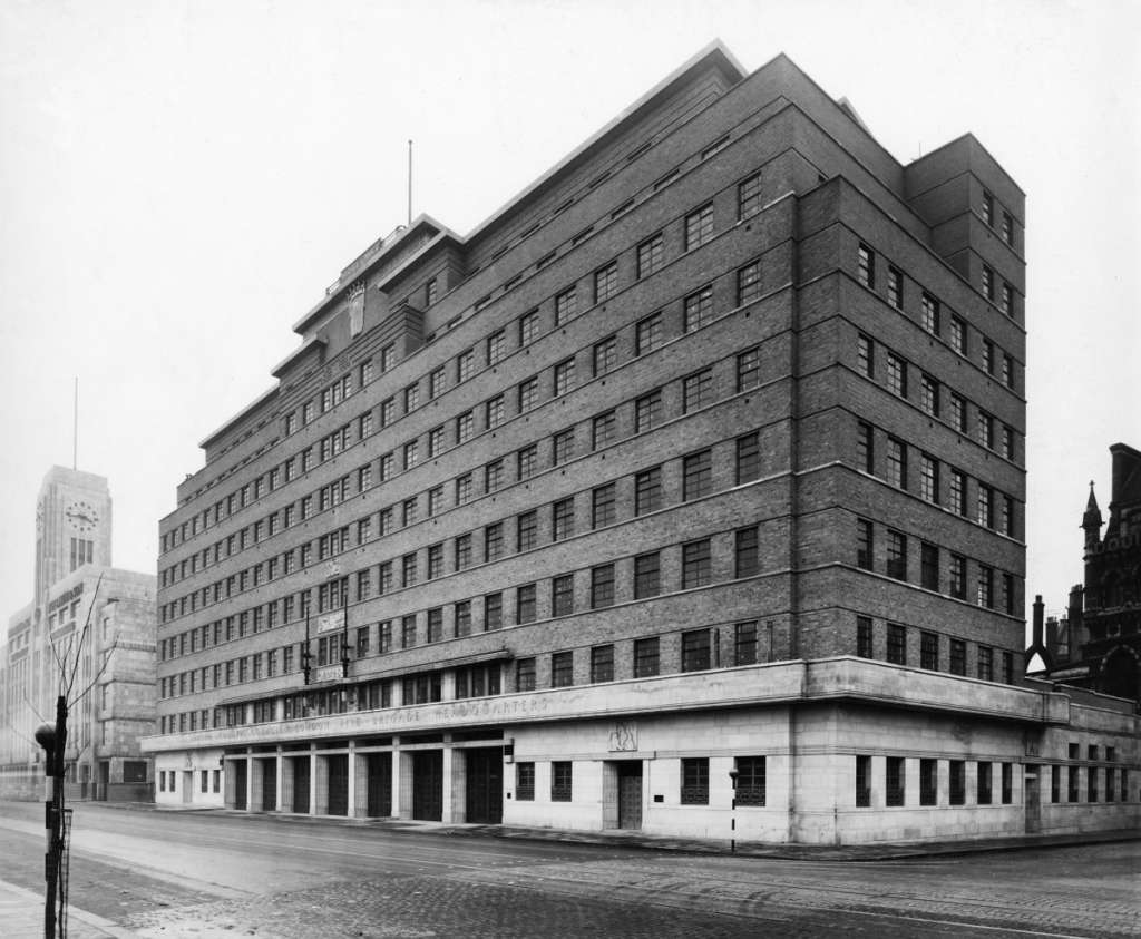 The grade II listed former London Fire Brigade Headquarters in 1950 (Historic England)