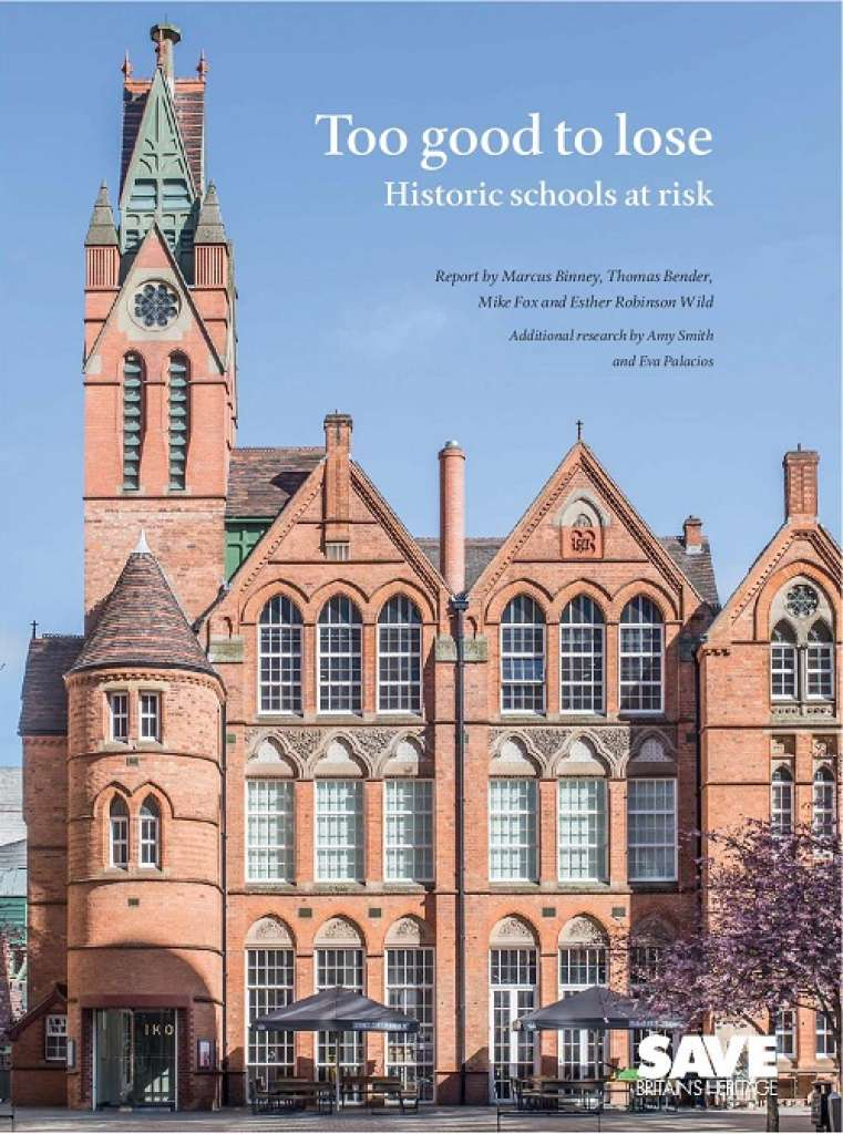 Book launch: Too good to lose. Historic schools at risk, 21 November 2018
