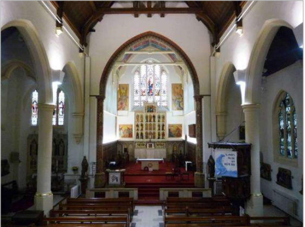 Interior of St Mary on the Sea, Grimsby