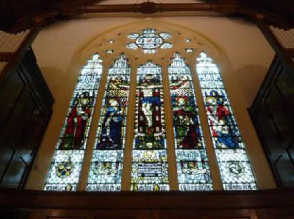 Stained glass window, St Mary on the sea, Grimsby photo: Taking Stock, Catholic Churches in England