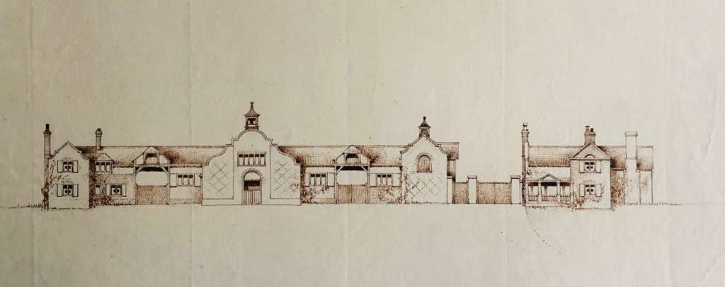 Arthur Castings' detailed drawings of Home Farm's decorative range (RIBA)