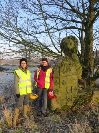 Dec 2012 - Landmark Trust Director, Anna Keay on a site visit
