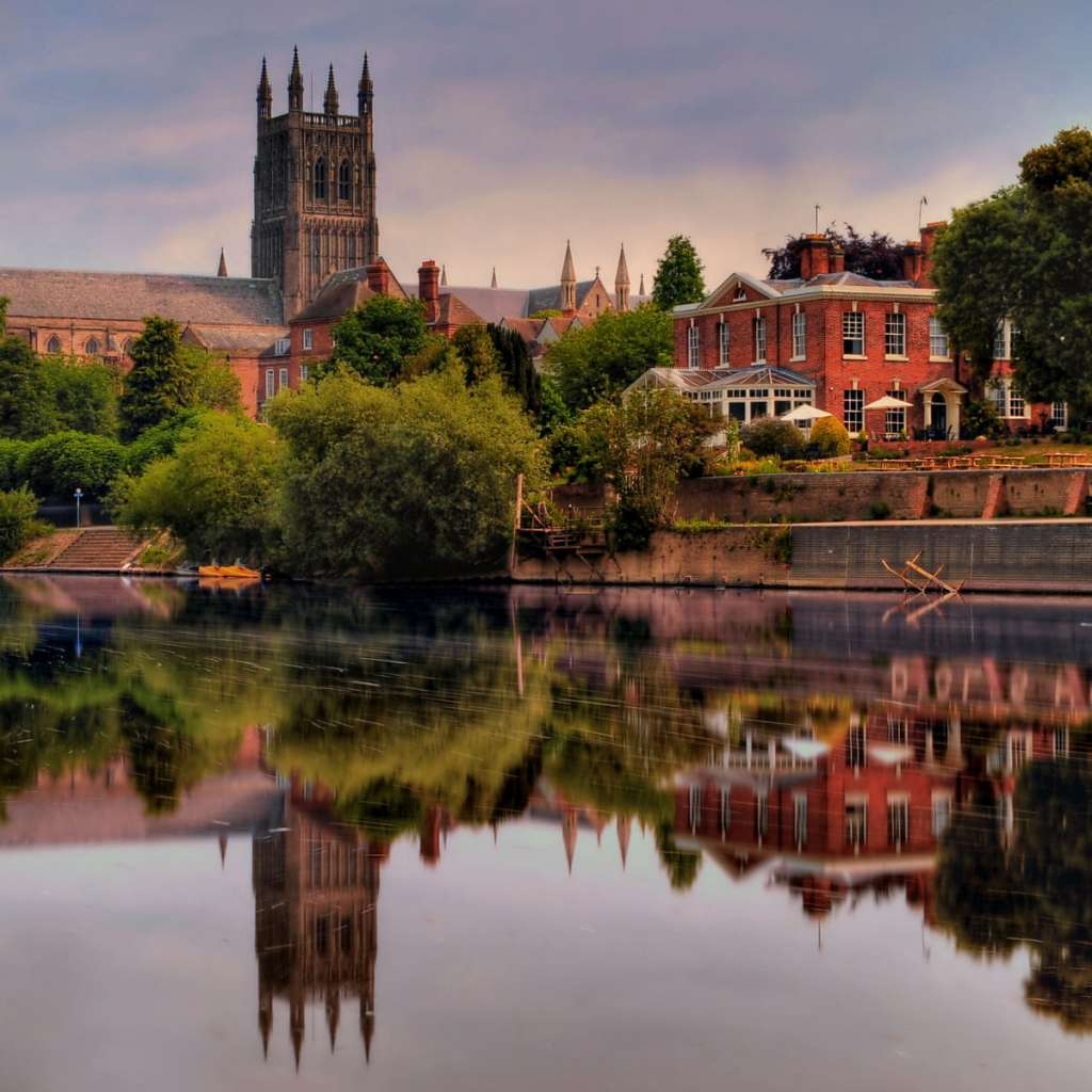 Worcester Cathedral dominates the historic skyline of the city (Credit: The Guardian)