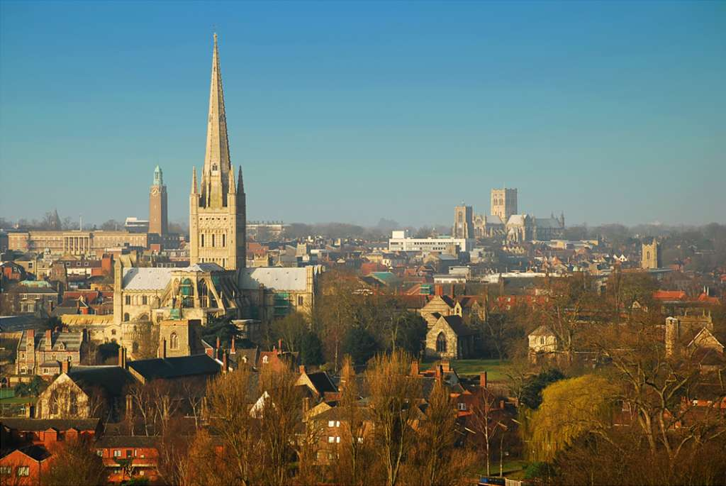 The skyline of medieval Norwich (Credit: Visit Norwich)