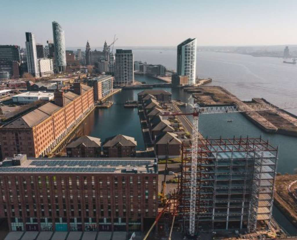 Looking south across Waterloo Dock past Romal Capital's Quay Central development