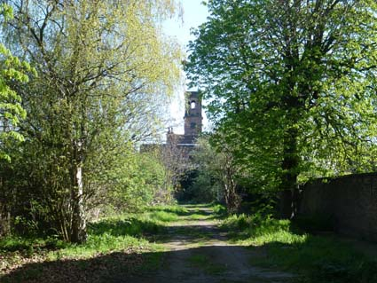 Church Road with the derelict St Pauls Church in the distance. PHOTO: Rupert Wheeler