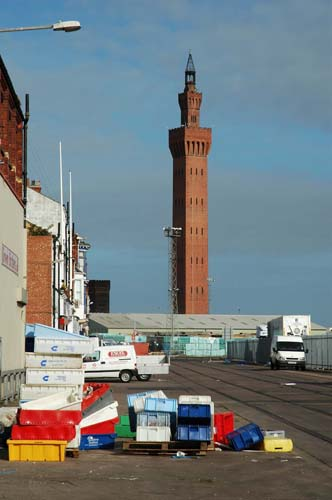 The Grade I listed Dock Tower with its oriental-style minaret