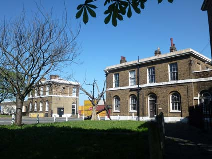 South Gate I (the former Police Office) on the left. PHOTO: Rupert Wheeler