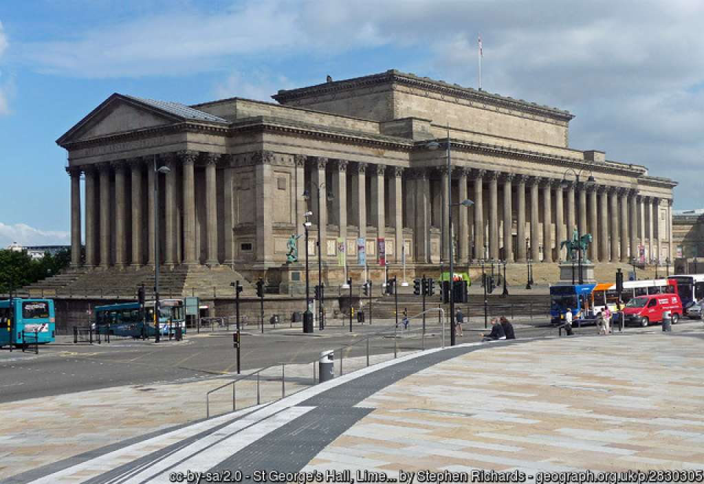 St George's Hall. Photo Stephen Richards via Geograph