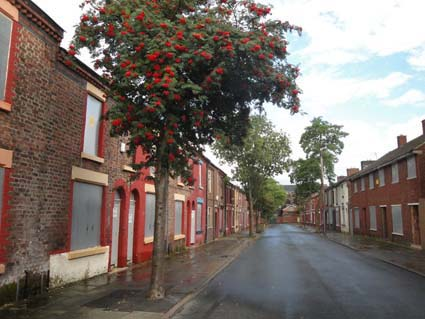 Madryn Street, condemned by the council but still standing