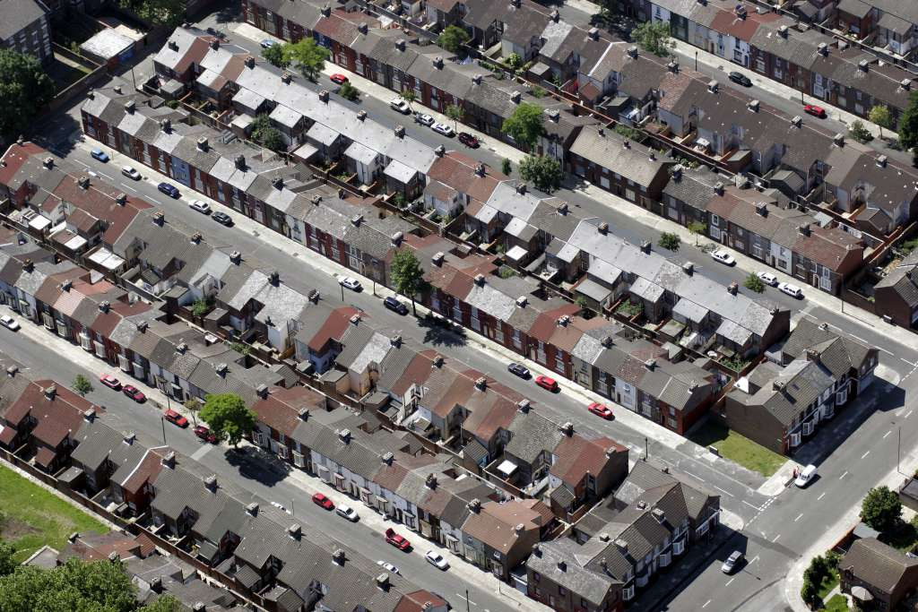 The Welsh Streets from above