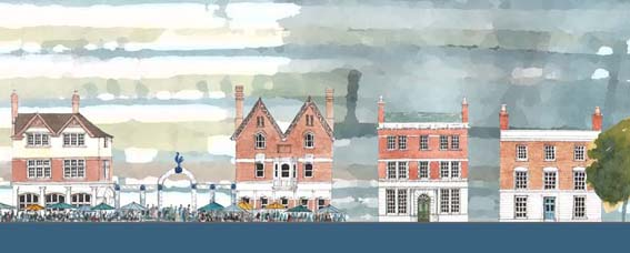 Detail from SAVE's scheme showing the four buildings to be retained