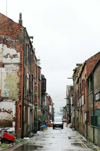 One of the narrow and characterful streets in the historic dock area