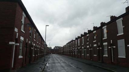 Houses in the Toxteth Street area earmarked for demolition