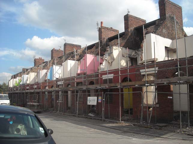 Toxteth Street, East Manchester, during demolition under Pathfinder