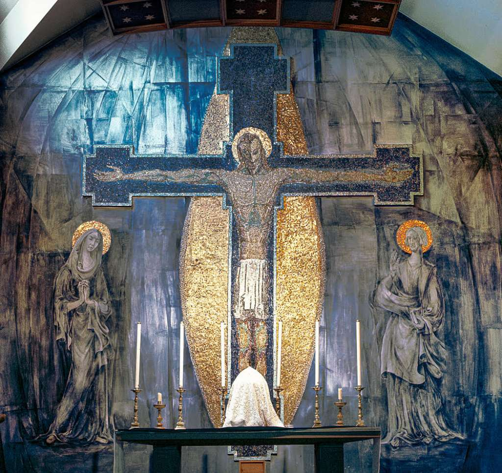 Photo: George Mayer-Marton's mural 'The Crucifixion' as originally installed (Credit: the Estate of